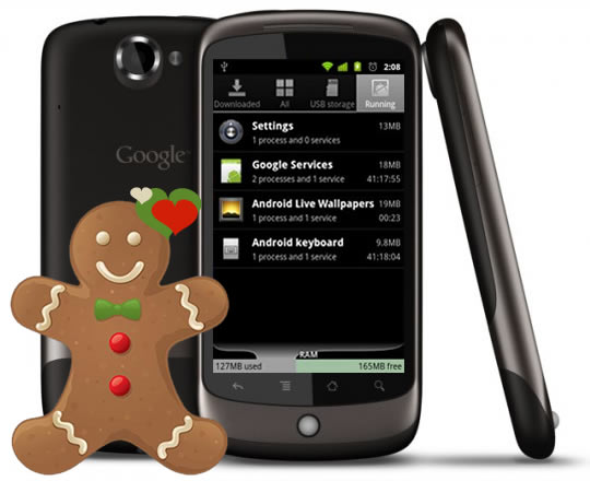 Google Nexus One Android Handset ~ Getting Gingerbread love