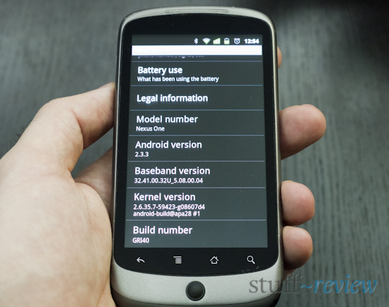 Nexus One Manually Update ~ Phone updated!