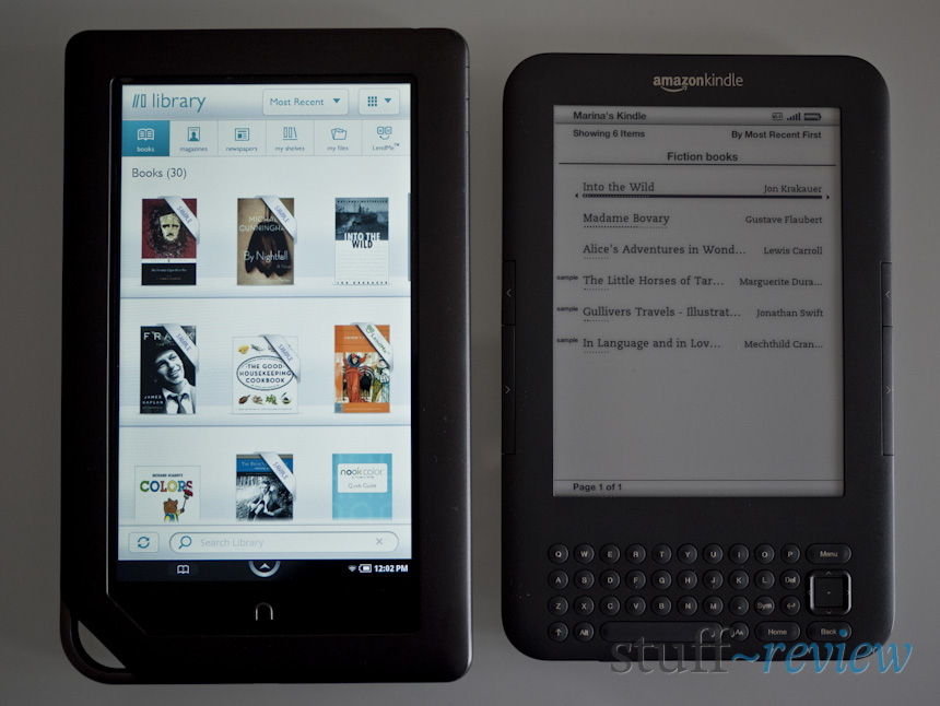 Nook E Reader Vs Kindle: Nook Color Review
