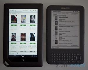 Nook Color vs. Kindle ~ Book stores