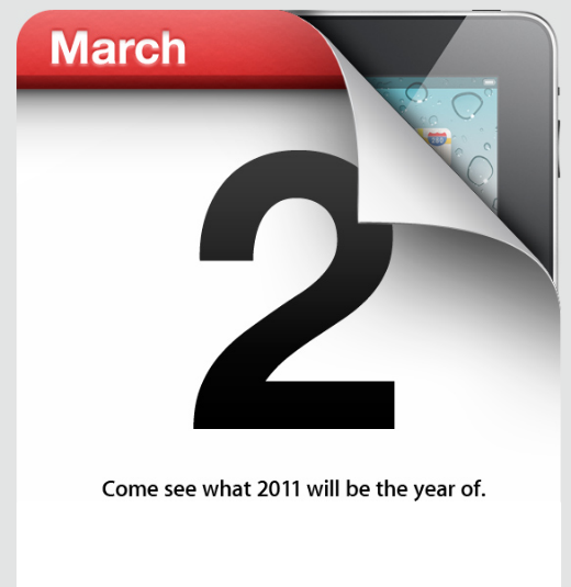 Apple Event March 2nd 2011 – Is there a new iPad hiding behind this date?