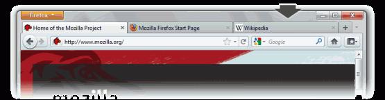 Firefox 4 ~ tab location
