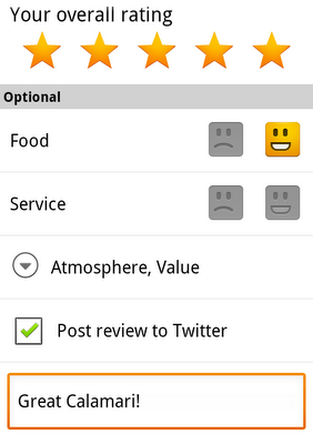 Google Maps 5.2 ~ Share reviews on Twitter