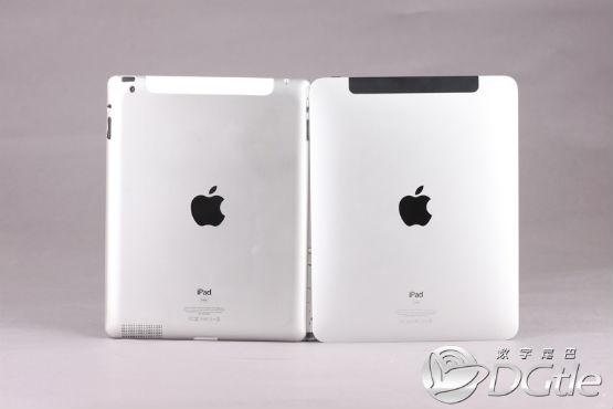 iPad 2 mock-up ~ Back compared to original iPad