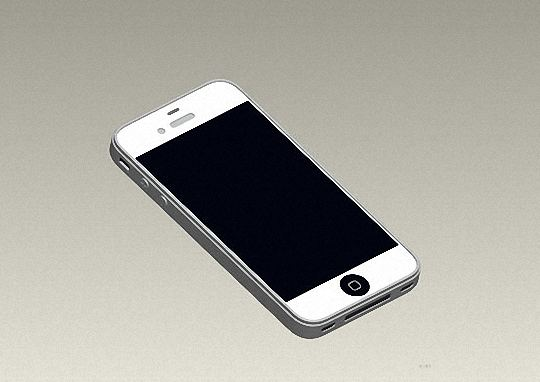 iPhone 5 mold rendering full