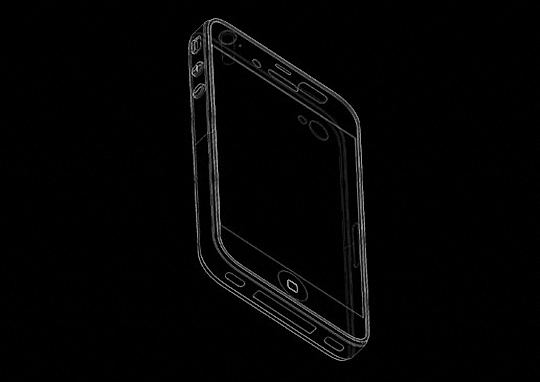 iPhone 5 mold rendering left side