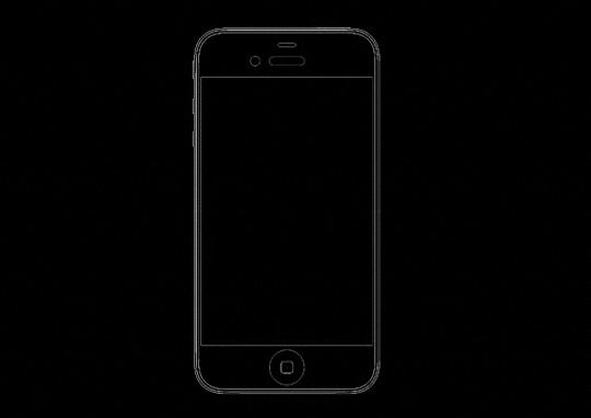 iPhone 5 mold rendering front