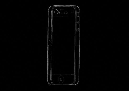 iPhone 5 mold rendering back