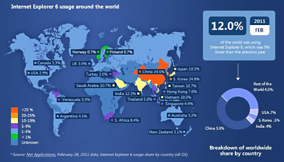 Microsoft IE6 Countdown ~ Usage map