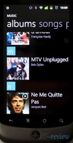 Zune / Windows Phone 7 music player for Android - Album View