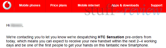 HTC Sensation pre-orders shipping