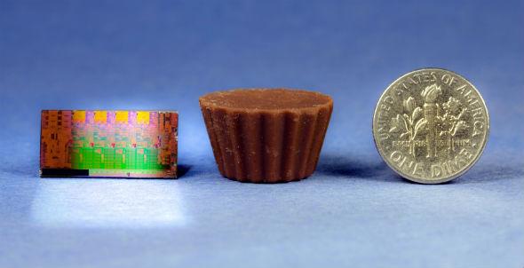 Intel Sandy Bridge CPU size comparison -- it's tiny!
