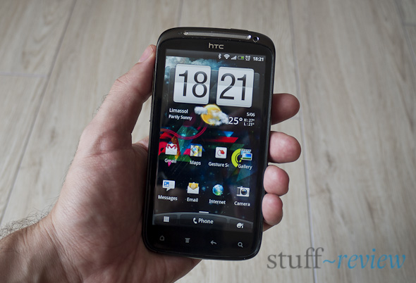 HTC Sensation in hand