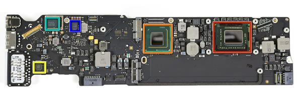2011 MacBook Air logic board