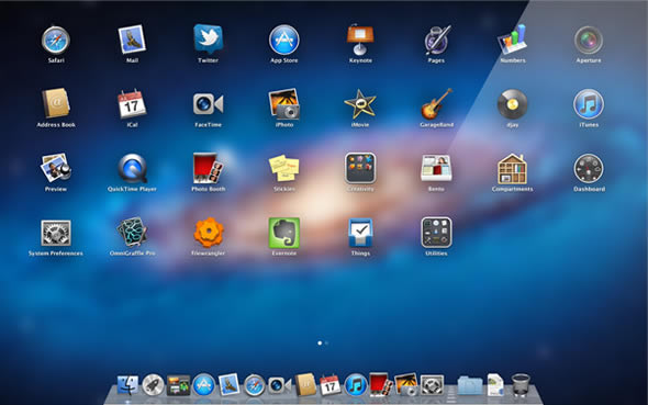 Mac OS X Lion Launchpad
