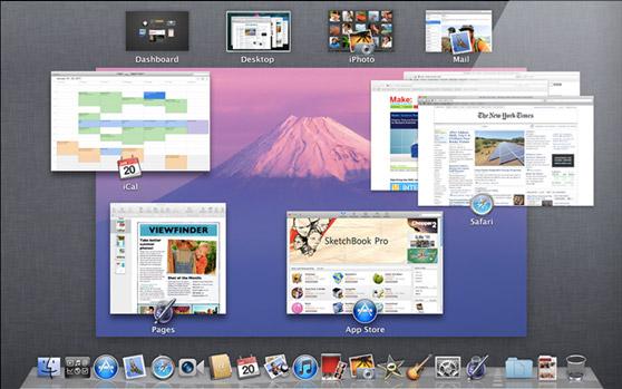 Mac OS X Lion Mission Control
