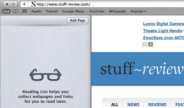 Mac OS X Lion Safari Reading List