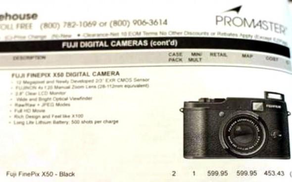 Fujifilm FinePix X50 Promaster catalog