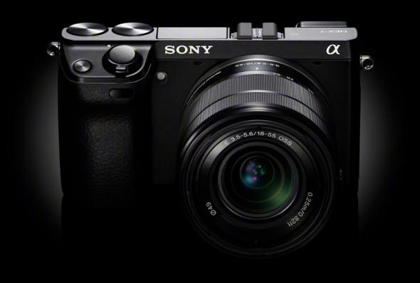 Sony NEX-7 front dramatic