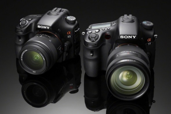 Sony's new Alpha cameras: SLT-A65 and SLT-A77