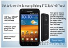 Galaxy S II Epic 4G Touch on Sprint – homescreen
