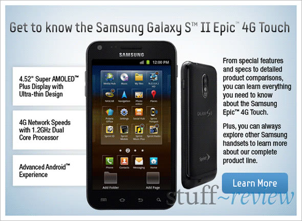 Galaxy S II Epic 4G Touch on Sprint – applications