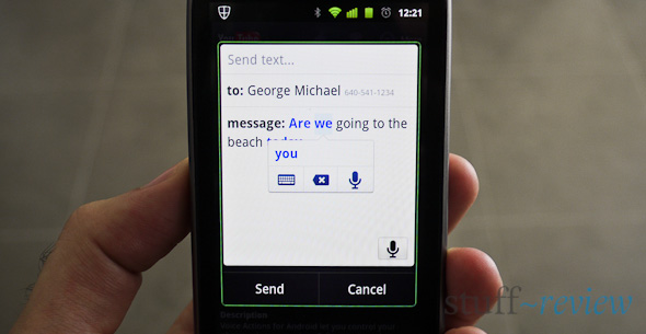 Google Voice Search Actions - correcting dictation