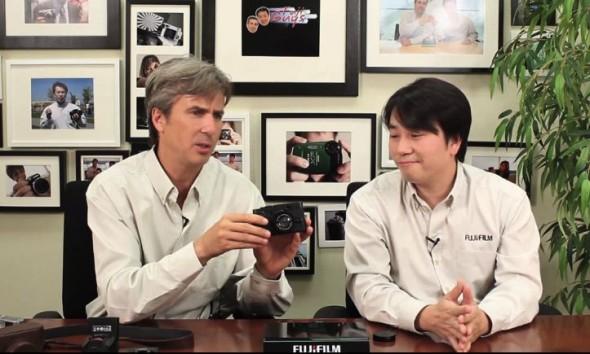 Fuji Guys showing off the Fujifilm FinePix X10