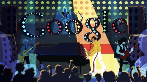 Google Doodle celebrates Freddie Mercury