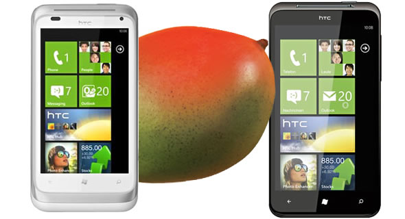 HTC Eternity and HTC Omega with WP7 Mango