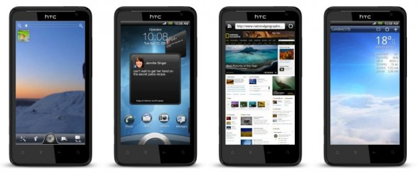 HTC Raider 4G LTE Android smartphone running Sense 3.0