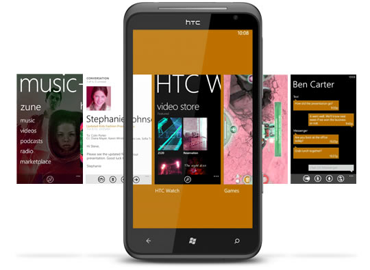 "HTC Titan with Windows Phone 7.5 ""Mango"""