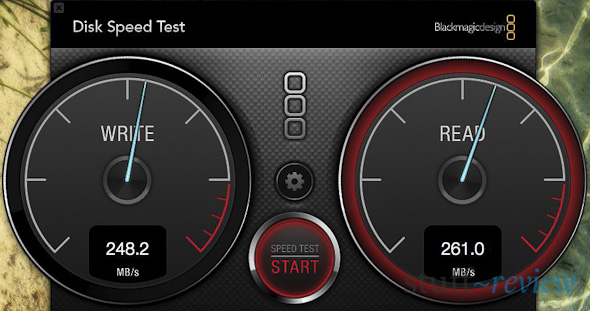MacBook Air 2011, disk speed test