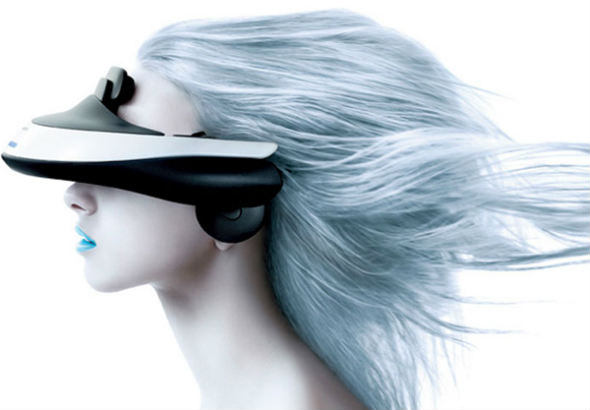 Sony HMZ-T1 OLED 3D head mounted display