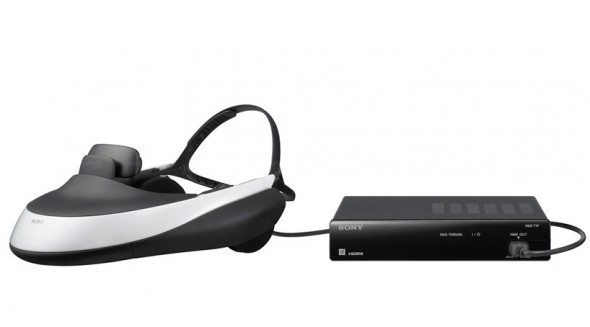 Sony HMZ-T1 OLED 3D head mounted display set with processing unit