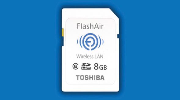 Toshiba FlashAir SDHC Memory Card with Embedded Wireless LAN
