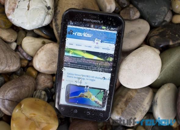 Motorola Defy+ Plus front wet