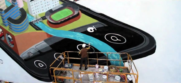 HTC EVO 3D mural video