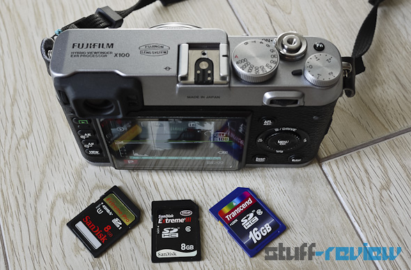 Fujifilm X100 startup time and SD write speed test