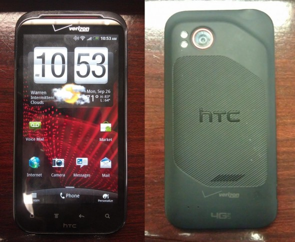 HTC Vigor / Rezound front and back