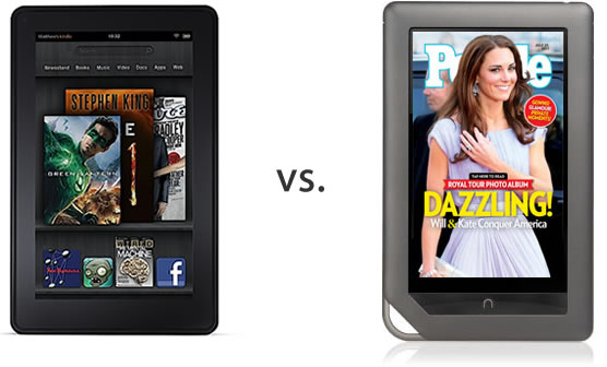 Amazon Kindle Fire vs. B&N Nook Color