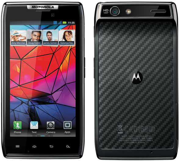 Motorola RAZR Developer Edition front and back