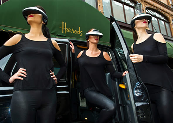 Sony HMZ-T1 3D headset lands at Harrods, London