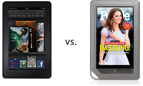 Amazon Kindle Fire vs. Barnes & Noble Nook Tablet