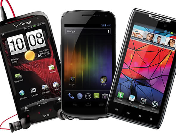 Android heroes: Samsung Galaxy Nexus vs. HTC Rezound vs. Motorola Droid RAZR