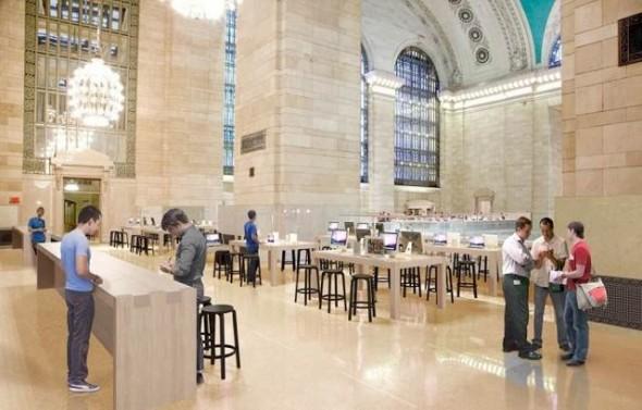 Grand Central Apple Store interior renderings