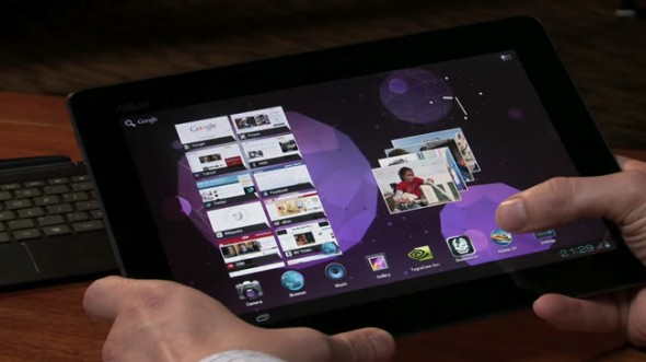 ASUS Transformer Prime running Android Ice Cream Sandwich