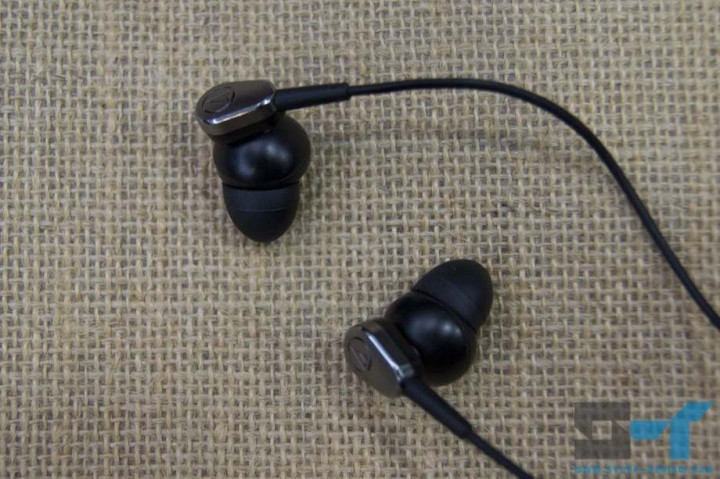Audio-Technica ATH-ANC23 earbuds with small rubber tips