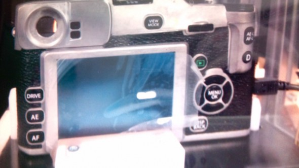 Fujifilm X-series MILC leaked picture - back