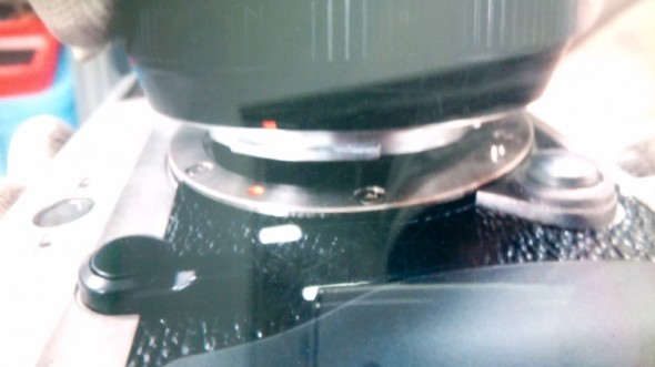 Fujifilm X-series MILC leaked picture - mounting lens